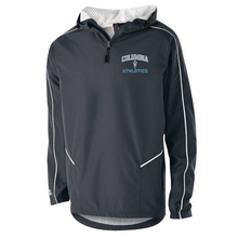 Load image into Gallery viewer, Columbia Football Hooded 1/4 Zip Pullover- Youth & Adult, 2 Colors, 3 Logo Options