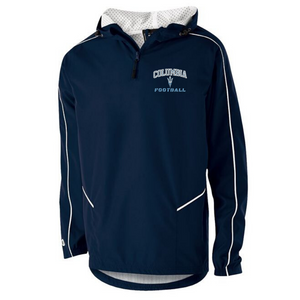 Columbia Football Hooded 1/4 Zip Pullover- Youth & Adult, 2 Colors, 3 Logo Options