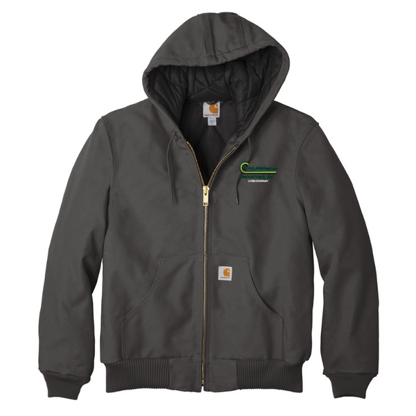 CRH Companies Carhartt Qulited Flannel-Lined Duck Active Jacket- 4 Colors