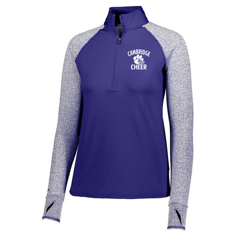 Cambridge Cheer Heather Mesh 1/4 Zip- Girls & Ladies, 3 Colors