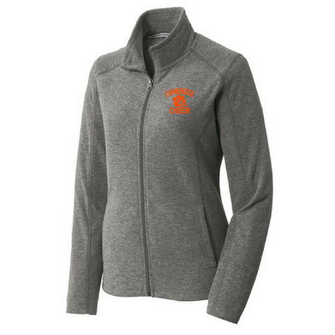 Cambridge Cheer Heathered Full Zip Fleece- Ladies & Men's, 3 Colors