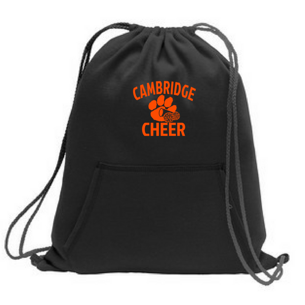 Cambridge Cheer Fleece Drawstring Bag- 3 Colors