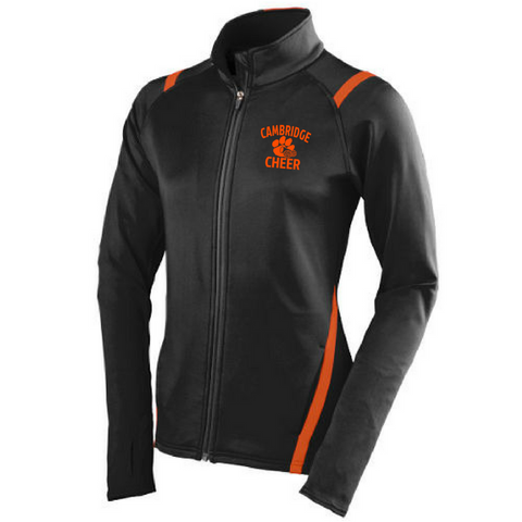 Cambridge Cheer 2-Tone Full Zip Jacket- Girls & Ladies, 2 Colors
