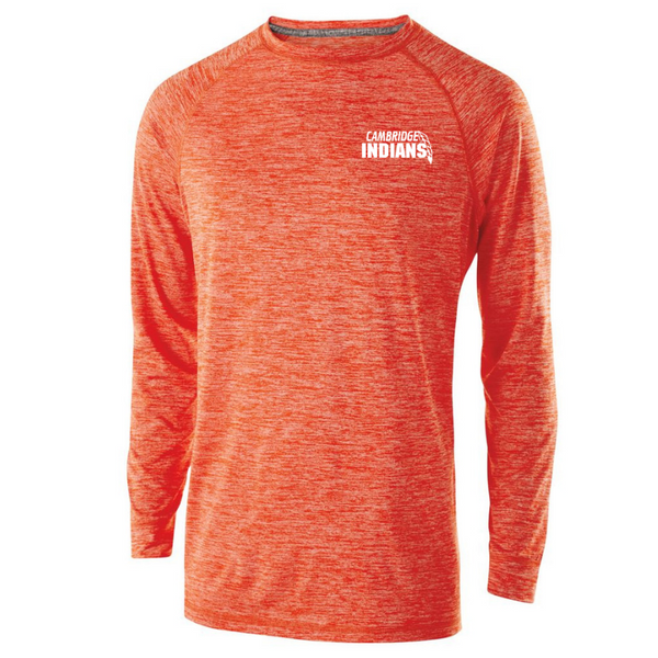 Cambridge Indians Long Sleeve Heather Performance Tee- Youth, Ladies, & Men's, 2 Colors