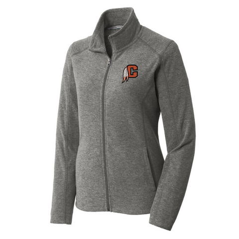 Cambridge Indians Heathered Full Zip Micro-Fleece- Ladies & Men's, 2 Colors
