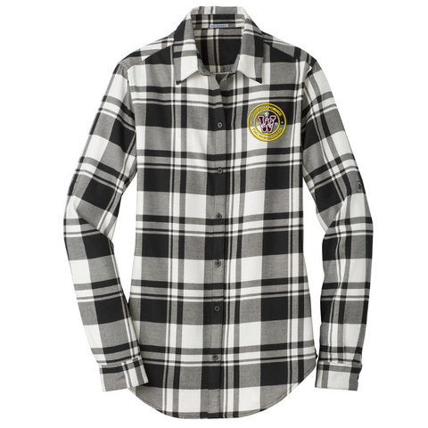 Camp Wakpominee Staff Button Down Flannel- Ladies & Men's