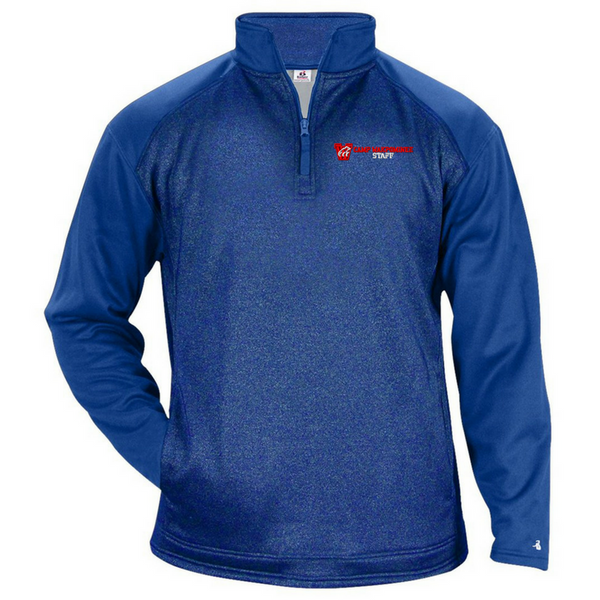 Camp Wakpominee Staff Two-Tone Heather 1/4 Zip- 3 Colors