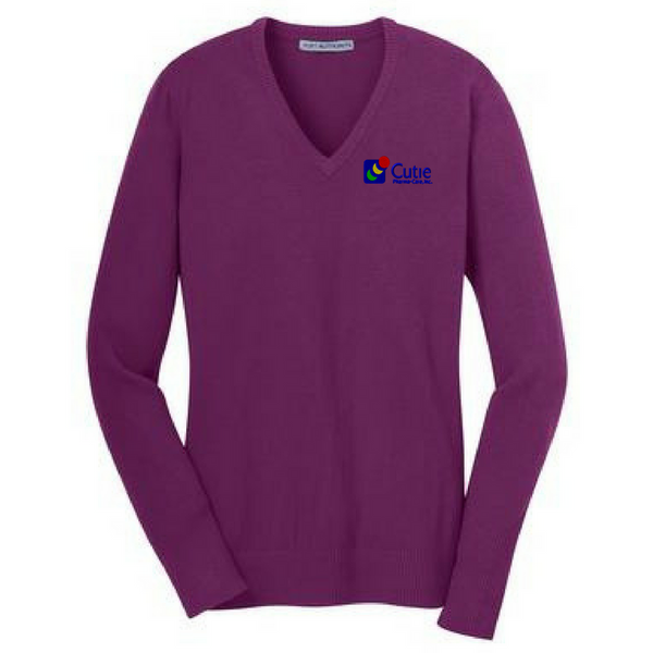 Cutie Pharma-Care Ladies V-Neck Sweater- 5 Colors