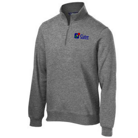 Cutie 1/4 Zip Sweatshirt- Ladies & Men's, 4 Colors