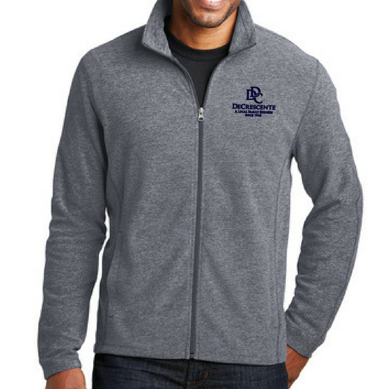DDC Heathered Full Zip Micro-Fleece- Ladies & Men's, 3 Colors