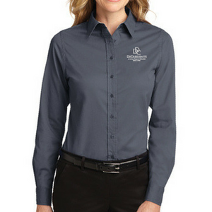 DDC Easy Care Long Sleeve Dress Shirt- Ladies & Men's, 4 Colors