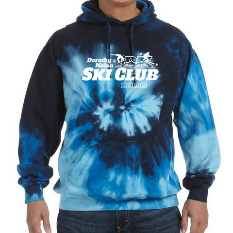 Dorothy Nolan Ski Club Tie Dye Hoodie- Youth & Adult