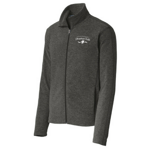 Stillwater Drama Club Heathered Full Zip Micro-Fleece- Ladies & Men's, 2 Colors