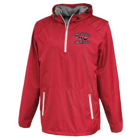 Emma Willard Swim/Dive Hooded 1/4 Zip Windbreaker- 2 Colors