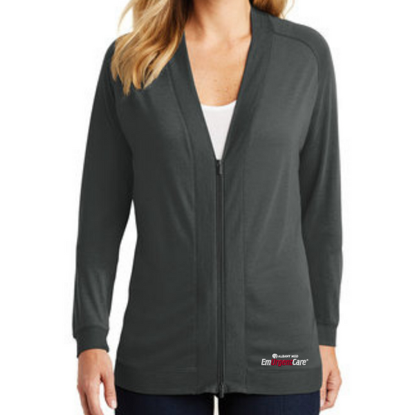 Albany Med EmUrgentCare Ladies Zip Cardigan- 2 Colors