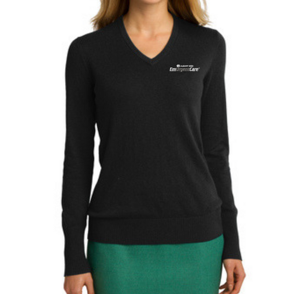 Albany EmUrgentCare Ladies V-Neck Sweater- 4 Colors