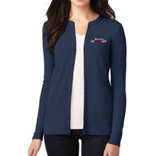 Load image into Gallery viewer, Albany Med EmUrgentCare Ladies Button Down Sweater- 4 Colors
