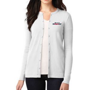 Albany Med EmUrgentCare Ladies Button Down Sweater- 4 Colors