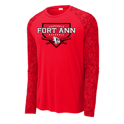 Fort Ann Baseball Digi-Sleeve Long Sleeve Performance Tee- 2 Colors