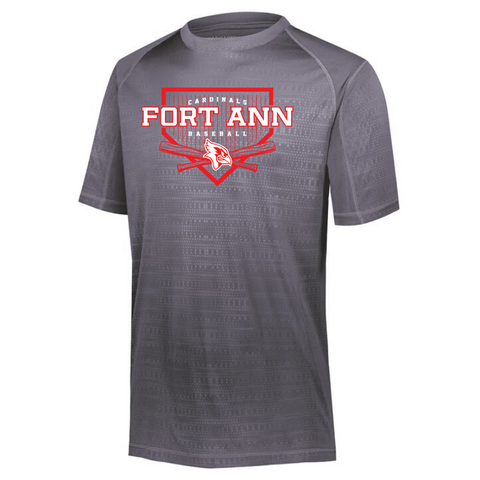 Fort Ann Baseball Embossed Performance Tee- Ladies & Men's, 2 Colors