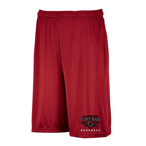 Fort Ann Baseball Dri-Power Pocket Shorts- Youth & Adult, 3 Colors