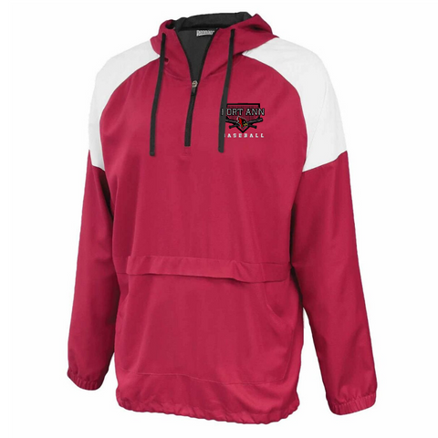 Fort Ann Baseball Colorblock Hooded 1/4 Zip- Youth & Adult, 2 Colors