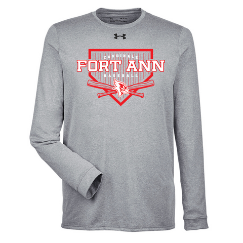 Fort Ann Baseball Under Armour Long Sleeve Performance Tee- Ladies & Men's, 2 Colors