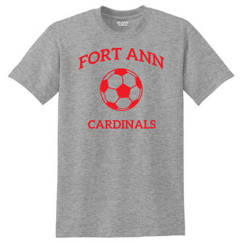 Fort Ann Soccer Cotton Tee- Youth & Adult, 3 Colors
