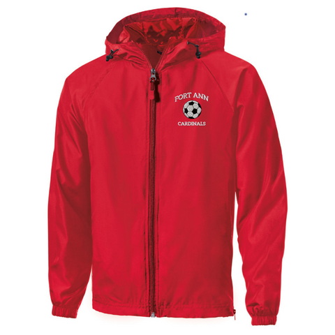 Fort Ann Soccer Lightweight Hooded Full-Zip Jacket- Youth, Ladies, & Adult, 2 Colors