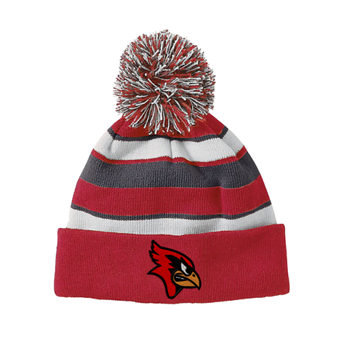 Fort Ann Cardinals Pom Pom Beanie- 2 Colors