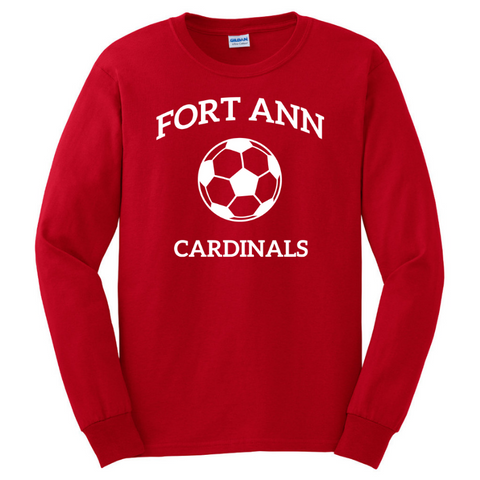 Fort Ann Soccer Long Sleeve Tee- Youth & Adult, 3 Colors