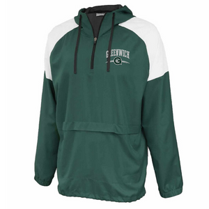 Greenwich Colorblock Hooded 1/4 Zip- Youth & Adult, 3 Colors