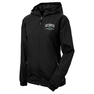 Greenwich Lightweight Hooded Full-Zip Jacket- Youth, Ladies, & Adult, 2 Colors