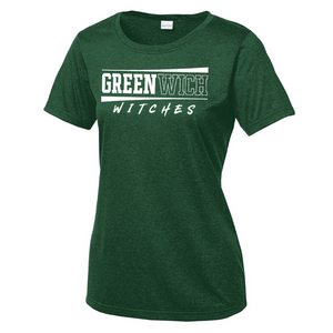 Greenwich Heather Performance Tee- Youth, Ladies, & Men's, 2 Colors