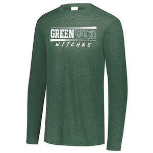 Greenwich Tri-Blend Long Sleeve- Youth, Ladies, & Men's, 3 Colors