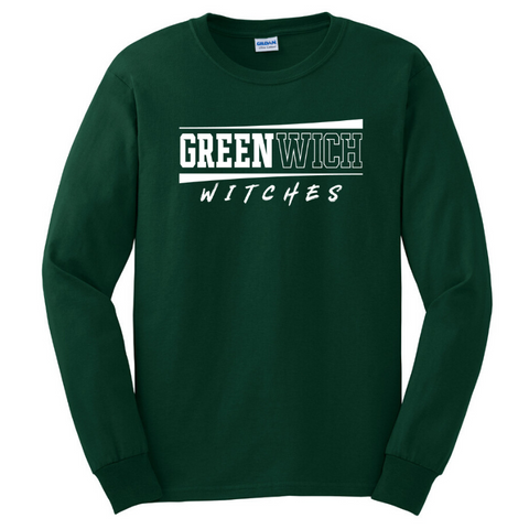Greenwich Long Sleeve Tee- Youth & Adult, 5 Colors