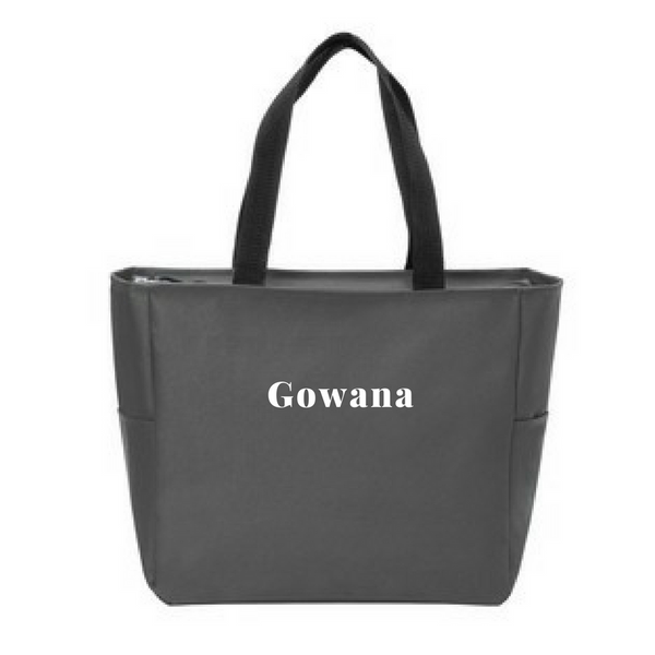 Gowana/Shen Zipper-Top Tote Bag- 3 Colors
