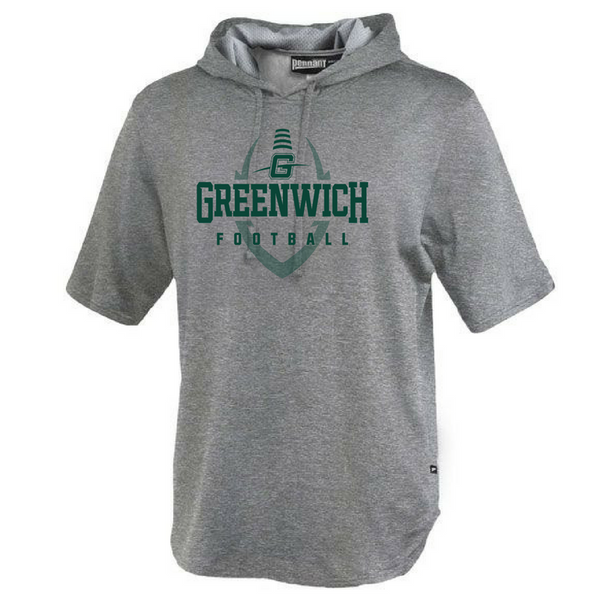 Greenwich Football Short Sleeve Performance Hoodie- 3 Colors