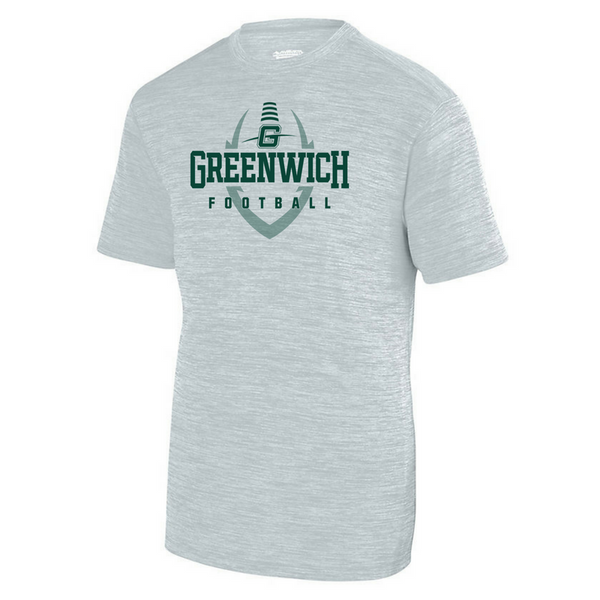 Greenwich Football Tonal Heather Performance Tee- Youth, Ladies & Men's, 3 Colors