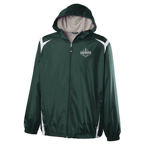 Greenwich Football Hooded Full Zip Lightweight Jacket- Youth & Adult, 2 Colors