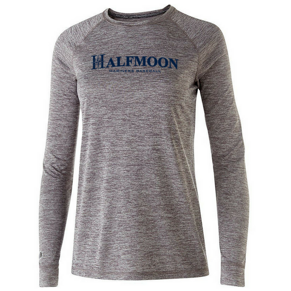 Halfmoon Mariners Long Sleeve Heathered Performance Shirt- Youth, Ladies, & Men's, 2 Colors