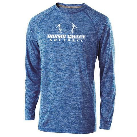 Hoosic Valley Softball Long Sleeve Heathered Performance Shirt- Youth, Ladies, & Men's, 3 Colors