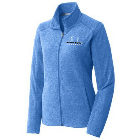 Hoosic Valley Softball Heathered Full Zip Fleece- Ladies & Men's, 2 Colors