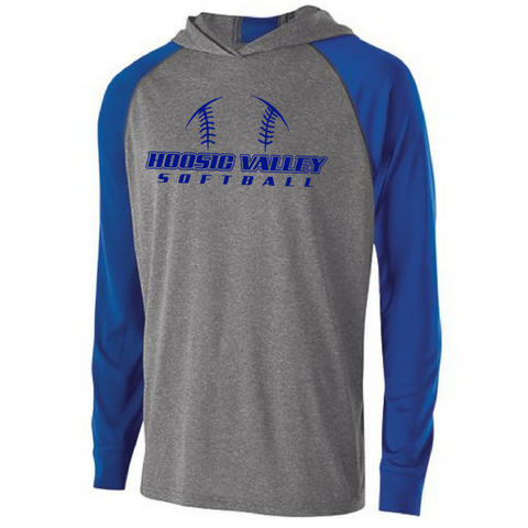 Hoosic Valley Softball Two-Tone Long Sleeve Performance Shirt- Ladies & Men's