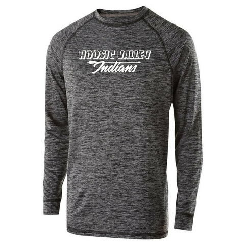 Hoosic Valley Long Sleeve Heather Performance Tee- Youth, Ladies, & Men's, 2 Colors
