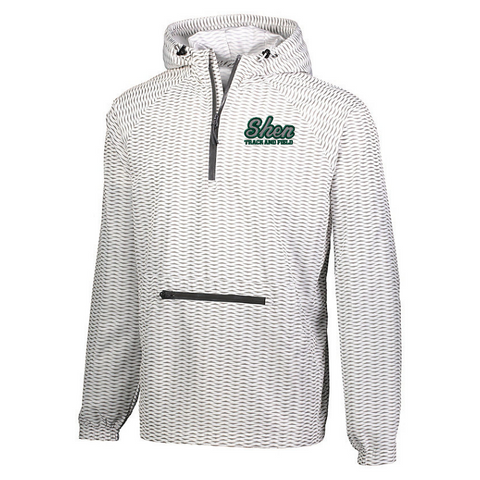 Shen Track & Field Weave Printed Hooded 1/4 Zip Windbreaker- Youth & Adult, 2 Colors