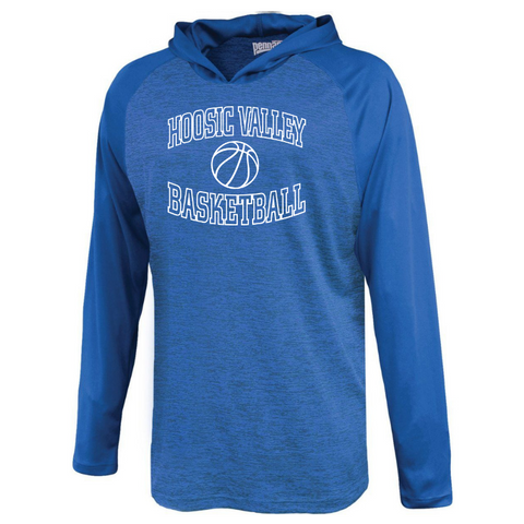 HV Basketball Long Sleeve Hooded Performance Shirt- Youth & Adult, 2 Colors