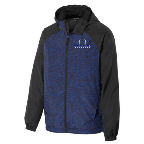 Hoosic Valley Softball Heathered Hooded Wind Jacket- Ladies & Men's, 2 Colors