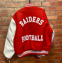 Load image into Gallery viewer, CLEARANCE- Raiders Football Varsity Jacket