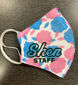 CLEARANCE- Shen Staff Floral Adult Face Mask